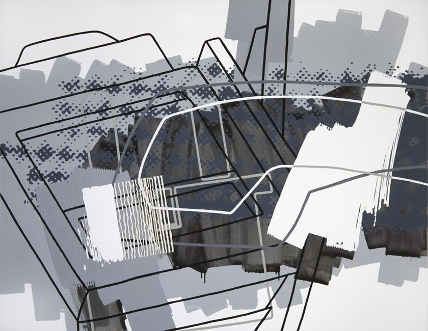 Greyscales 10 – Acryl auf Leinwand