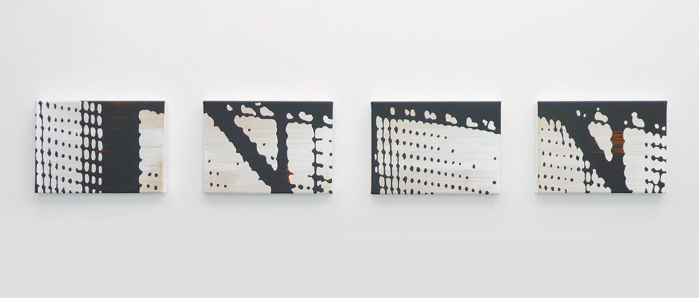 Bruecke 4-teilig – Acryl auf Leinwand