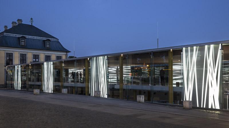 Greenhouse – Videoprojektionen mit einer Klanginstallation – Arne Jacobsen Foyer – Kunstfestspiele Herrenhausen Hannover 2019