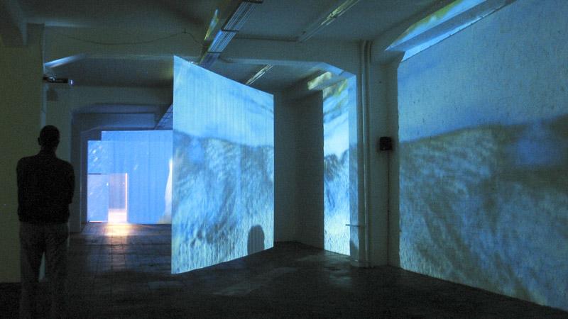 Loslaufen – Video- und Klanginstallation – Kunstwerk Koeln 2006