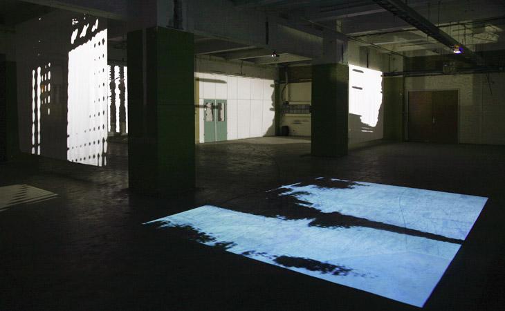 Lowlights – Videoprojektionen als Rauminstallation – Glow Festival of Light in Art and Architecture Eindhoven 2008